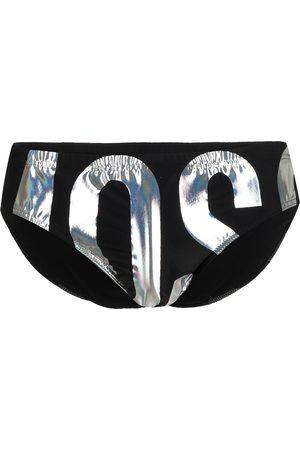 Moschino Ropa interior con logo metalizado