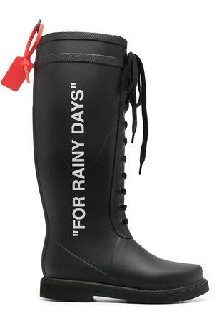 OFF-WHITE RAIN BOOT BLACK WHITE