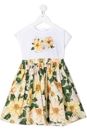 Dolce & Gabbana Niña Estampados - Floral-print dress