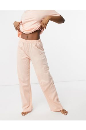 ASOS Mix & match straight leg jersey pyjama trouser in peach