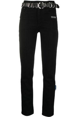 OFF-WHITE Jeans rectos con cinturón