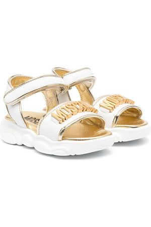 Moschino Logo-embossed leather sandals