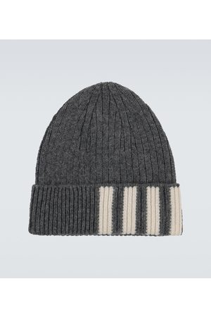 Thom Browne Ribbed striped cashmere hat