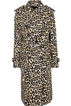 Marc Jacobs Leopard-print denim trench coat