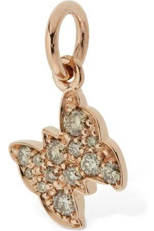 """Dodo Colgante """"farfalla"""" De Oro Rosa 9kt Y Diamantes"""