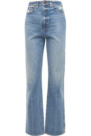 """Khaite Jeans Rectos """"danielle"""" Con Cintura Alta"""