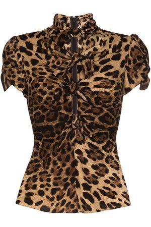 Dolce & Gabbana Camisa con estampado de leopardo