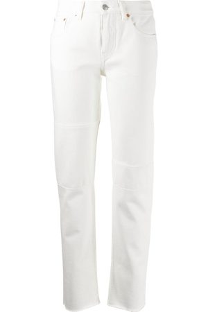 MM6 MAISON MARGIELA Mujer Jeans - Jeans con bordes sin rematar