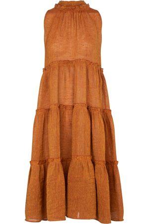 Lisa Marie Fernandez Erica linen-blend gauze midi dress