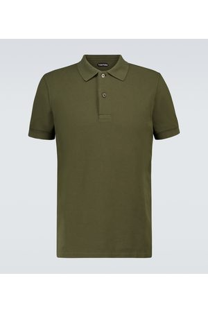 Tom Ford Hombre Polos - Short-sleeved cotton polo shirt