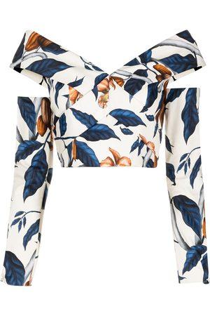 JOHANNA ORTIZ Blusa con estampado de hojas