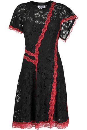 KOCHÉ Mujer Cóctel - Vestido asimétrico de encaje