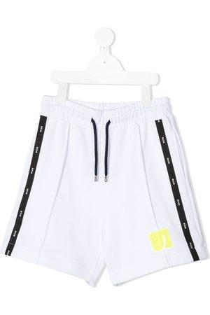 Msgm Shorts deportivos con franjas del logo