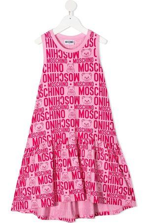Moschino Vestido midi con logo estampado