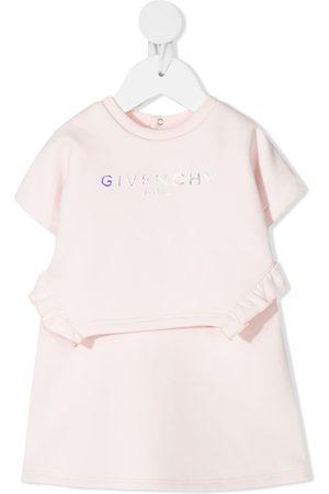 Givenchy Vestido acampanado con logo estampado