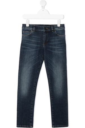 Dolce & Gabbana Whiskering effect slim-fit jeans