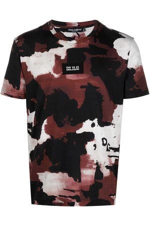 Dolce & Gabbana Camiseta con motivo militar