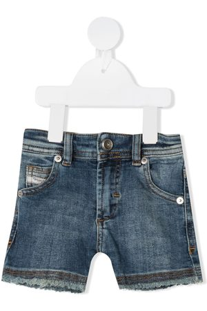 Diesel De mezclilla - Mid-rise denim shorts