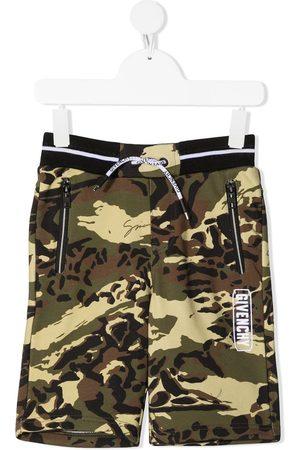 Givenchy Pantalones cortos de deporte con motivo militar