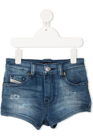 Diesel Niña De mezclilla - Distressed detail denim shorts