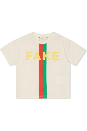 Gucci Playera con estampado Fake/Not