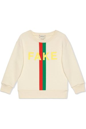 Gucci Sudadera con estampado Fake/Not