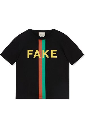 Gucci Playera con eslogan estampado