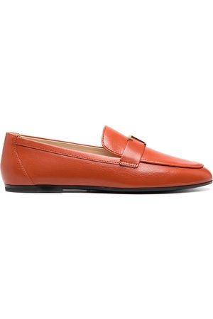 Tod's Logo plaque leather loafers
