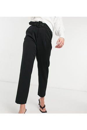 Vero Moda Mujer Leggings y treggings - Cigarette trouser with belted waist in black