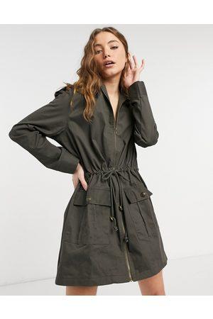 SNDYS Kendall dress in dark khaki