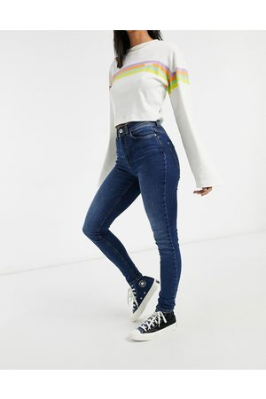 JDY Jona high waisted skinny jeans in medium blue wash