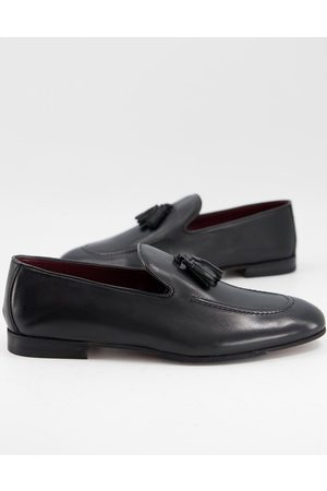 WALK LONDON Terry tassel loafers in black leather