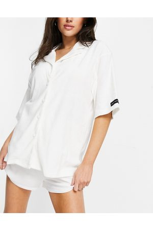 Public Desire Towelling pyjama shirt co