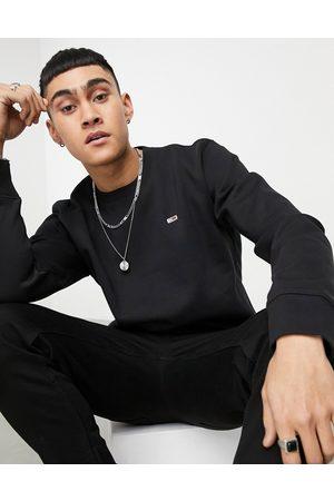 Tommy Hilfiger Hombre Con capucha - Crew neck logo sweatshirt in black
