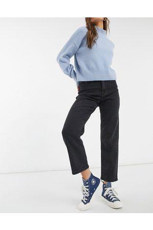 Object Moji straight leg jean in black