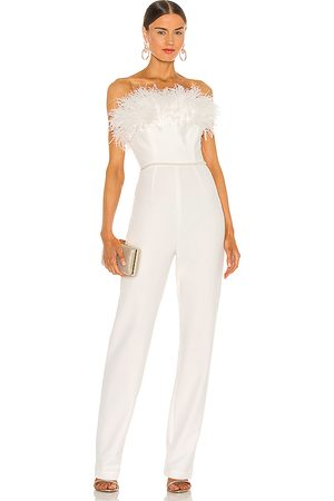 Bronx and Banco Lola blanc feather jumpsuit en color talla M en - White. Talla M (también en S).