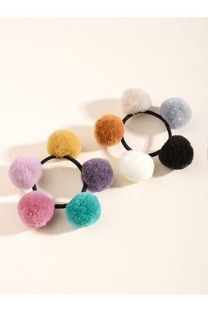 YOINS 1pc Colorful Pom-pom Decor Hair Tie