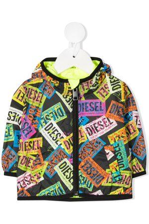 Diesel Logo patchwork jacket