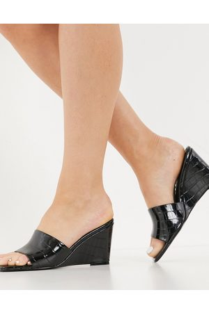 ASOS Trixy wedge mules in black