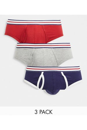ASOS Hombre Boxers y trusas - 3 pack briefs with striped waistband