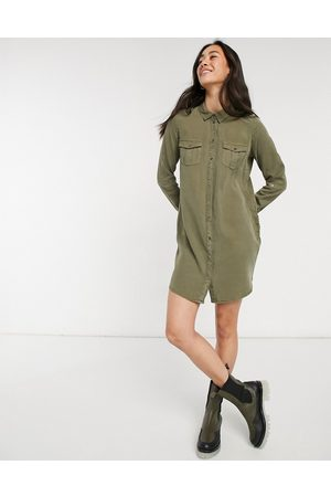 Vero Moda Shirt dress in khaki