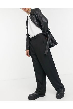 ASOS Wide leg smart trousers in black