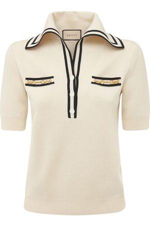 Gucci Camisa Polo De Lana Jacquard Con Logo
