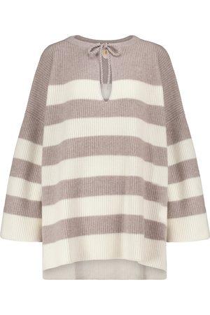 Jardin des Orangers Mujer Estampados - Striped wool and cashmere poncho