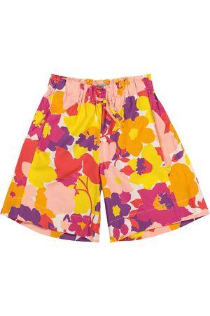 Il gufo Floral cotton shorts