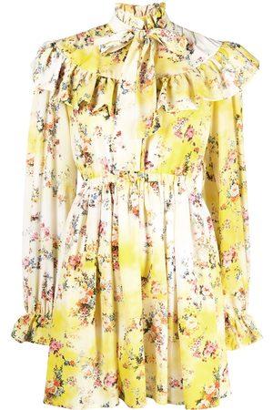 Msgm Mujer Cóctel - Vestido con motivo floral y volantes