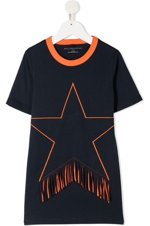 Stella McCartney Playera con estrella estampada y flecos