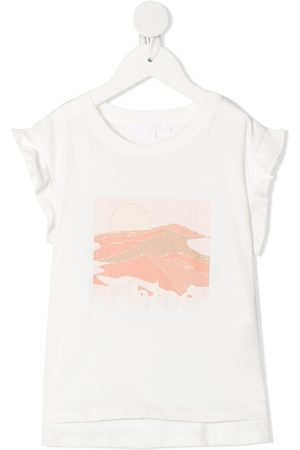 Chloé Graphic print sleeveless top