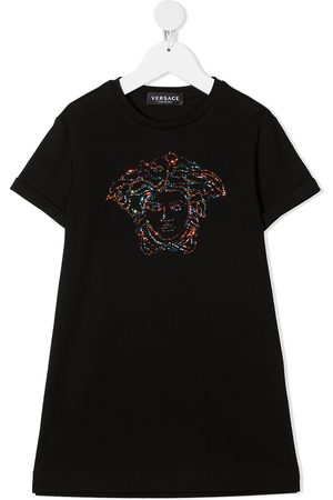 VERSACE Medusa head-embellished T-shirt dress