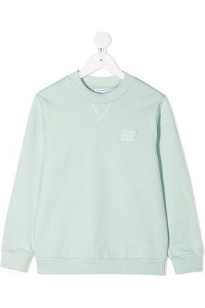 Dolce & Gabbana Logo patch crew neck sweatshirt